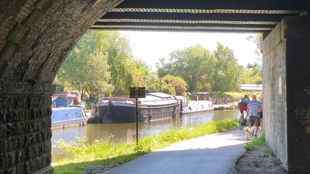 Picture of a busy towpath in Rotherham
