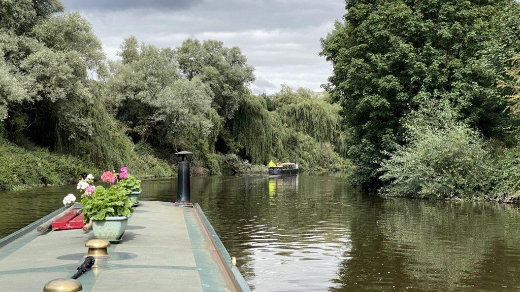 Narrowboats on the River Don